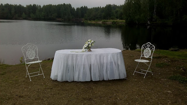 Часть оформления церемония бракосочетания на открытом воздухе