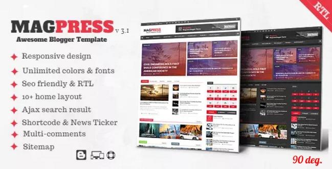 Magpress v3.1 – Responsive Magazine Blogger Template