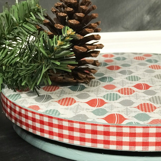 Make a DIY Holiday Lazy Susan