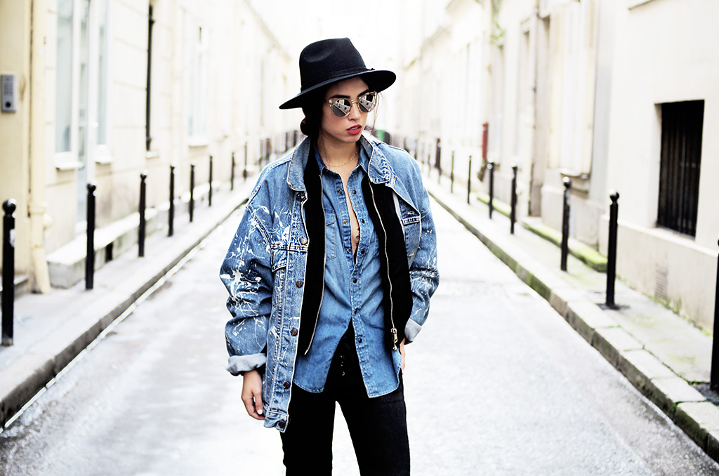 Elizabeth l Denim on denim outfit blog mode l Asos Stradivarius l THEDEETSONE l http://thedeetsone.blogspot.fr