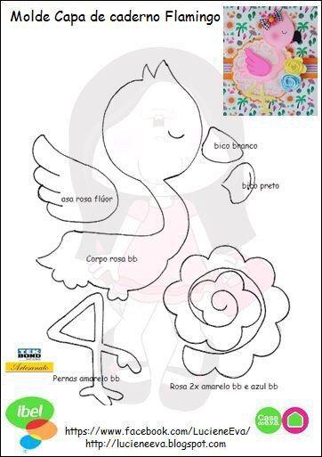 Capa De Caderno Flamingo Com Molde Para Imprimir Como Fazer
