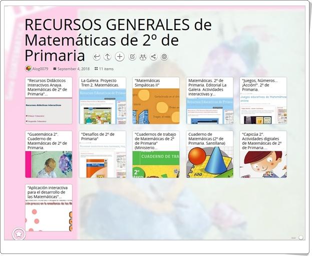 """""""11 RECURSOS GENERALES de Matemáticas de 2º de Primaria"""""""