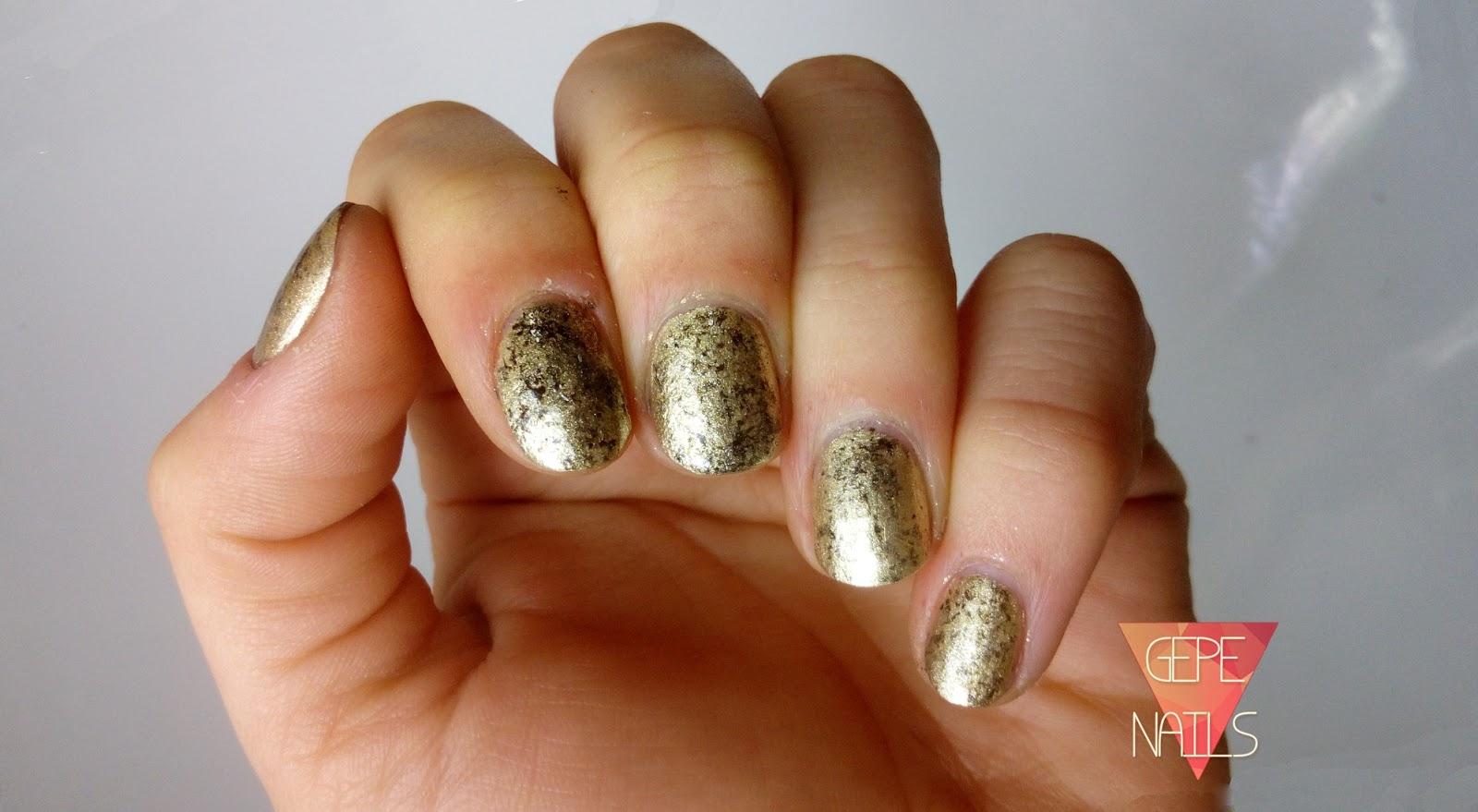 Gepe Nails Uñas De Nochevieja Propuesta 3 Dorado