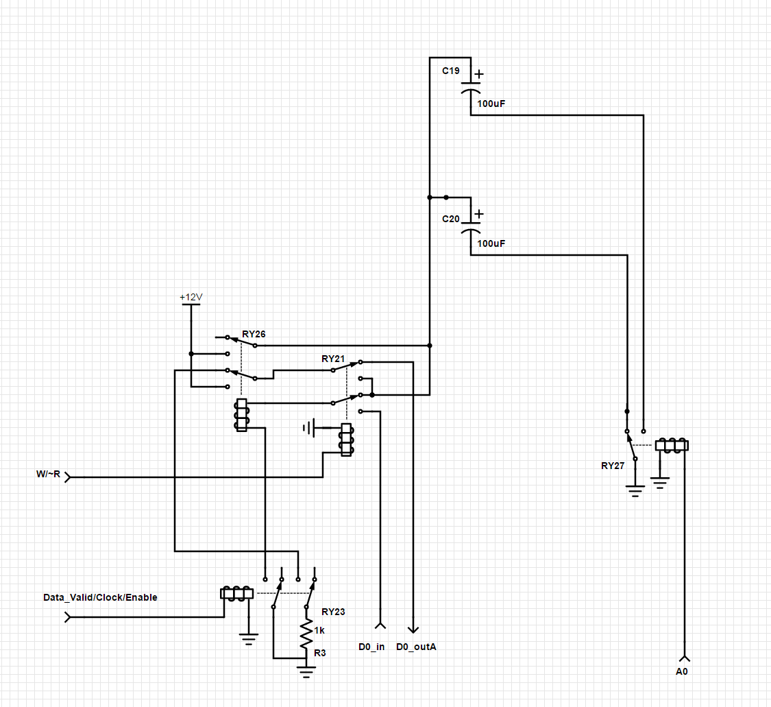 Final Memory Design Demonstration Clicks 16 Bit Relay Computer Logic Diagram Isa The Schematic Below Is End Result But See Registers Post For More Detail