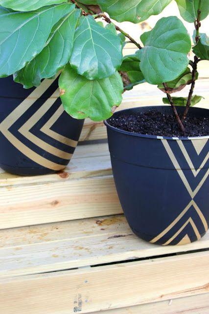 painted planter pots modern diy