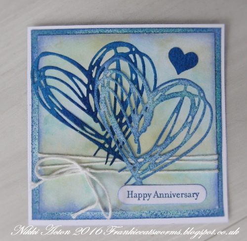 Tim Holtz Scribbles and Splats Anniversary Card