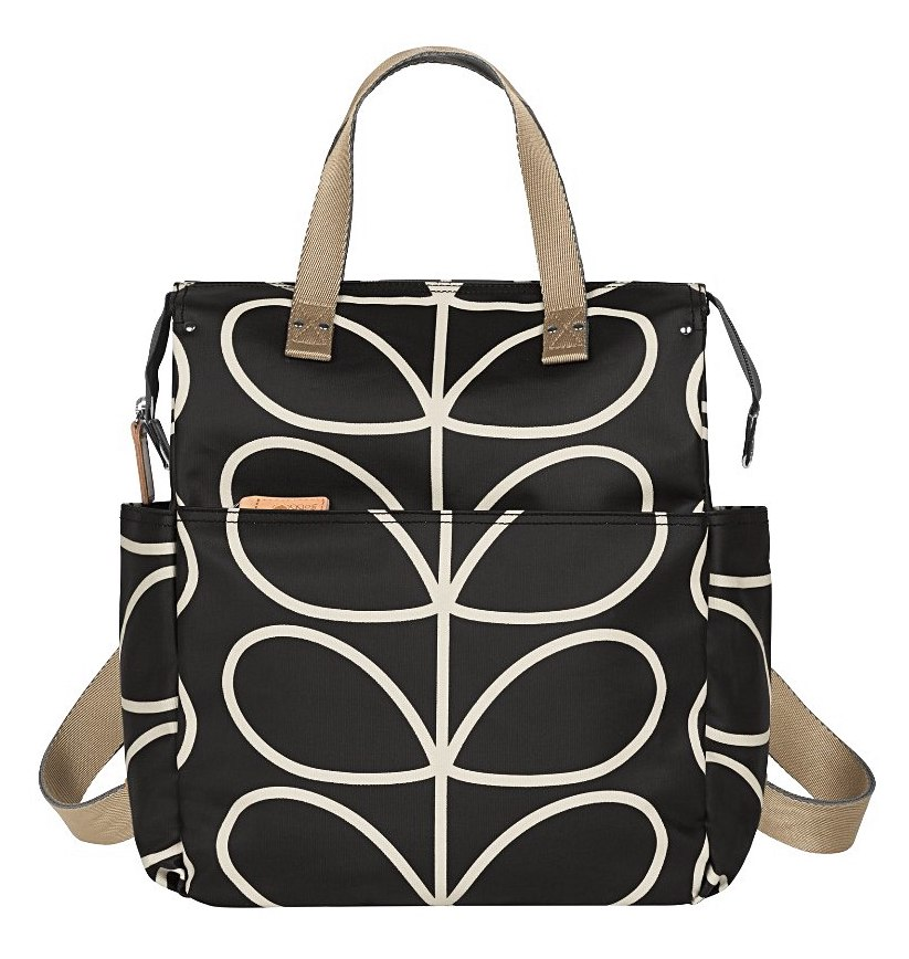 98f8a6bb9fafd Giant Linear Stem Backpack Baby Bag in Black & Cream £155 and Zip Messenger  Baby Bag in Stone £165