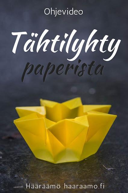 Ohjevideo: Taittele tähtilyhty paperista