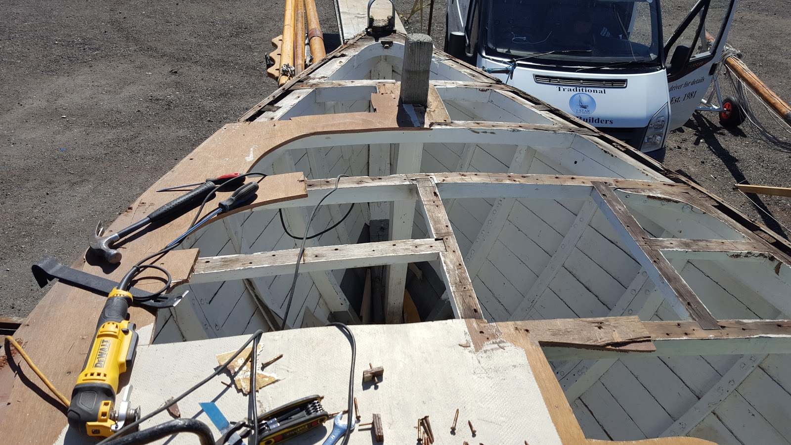 steel for foredeck