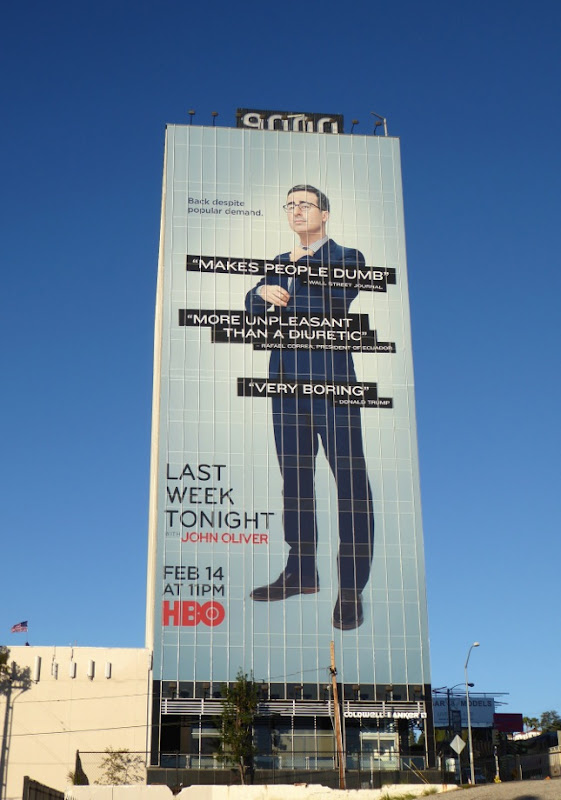 Giant Last Week Tonight John Oliver season 3 billboard
