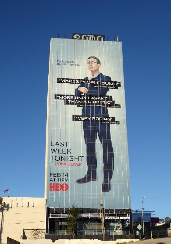 Giant Last Week Tonight John Oliver season 3 billboard