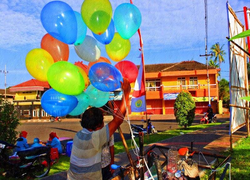 Gambar balon terbang untuk anak-anak