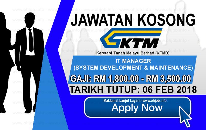 Jawatan Kerja Kosong Keretapi Tanah Melayu Berhad - KTMB logo www.ohjob.info februari 2018