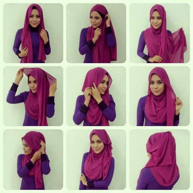 tutorial hijab pashmina simple tanpa ninja