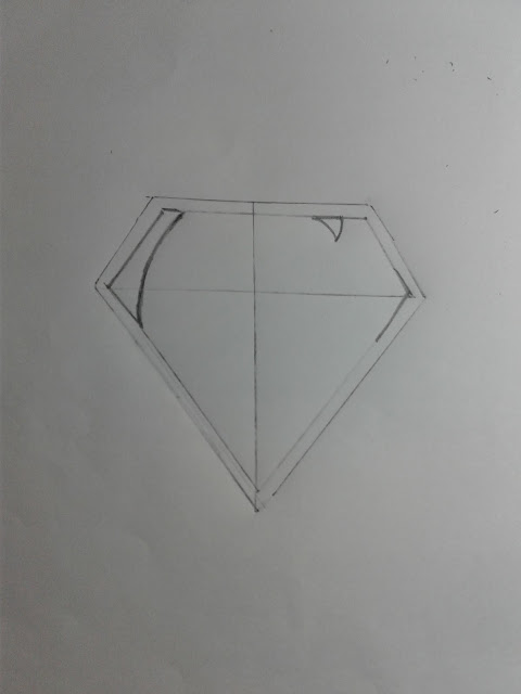 How to Draw a Superman Logo easy  outline