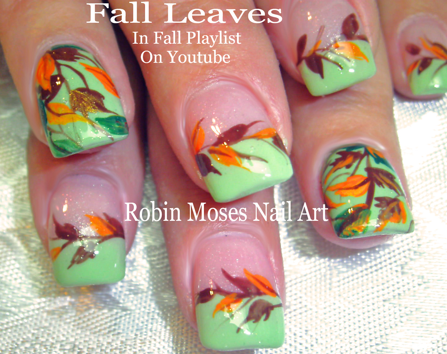Nail Art by Robin Moses: Nail art: Cute Fall Pumpkins!!!! \