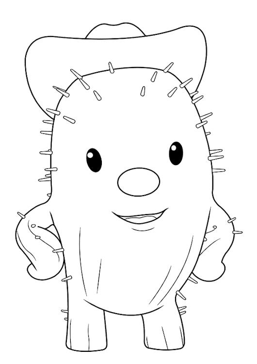 Dibujo de toby el cactus para colorear