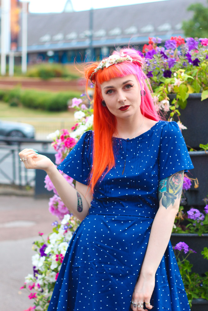 Alternative fashion blogger foxxtailz styles Joanie Dress