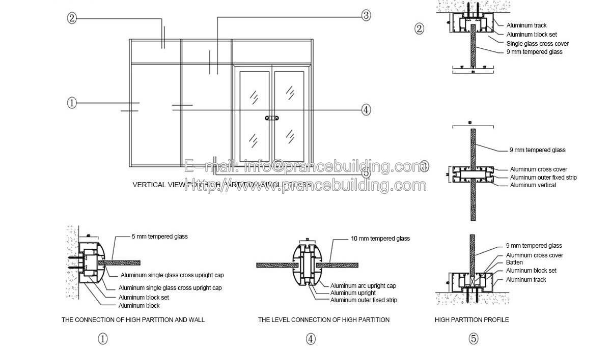 Demountable Partition Detail : Glass partition philippines demountable