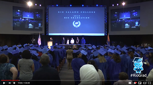 YouTube snapshot of graduation ceremony
