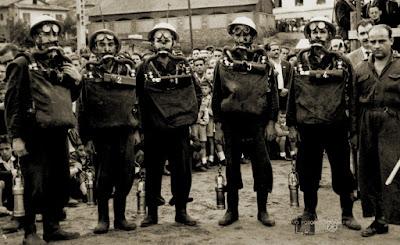 Brigada de rescate de una mina de Asturias