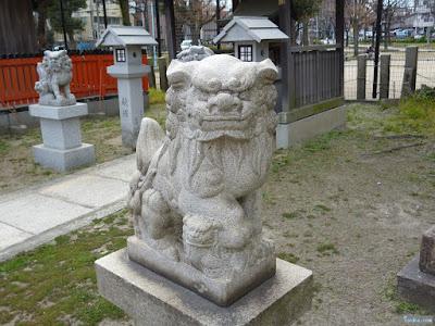 姫嶋神社金刀比羅宮狛犬