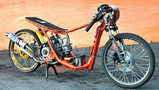 Kumpulan Gambar Dan Foto Modifikasi Motor Drag Racing Matic Tercepat