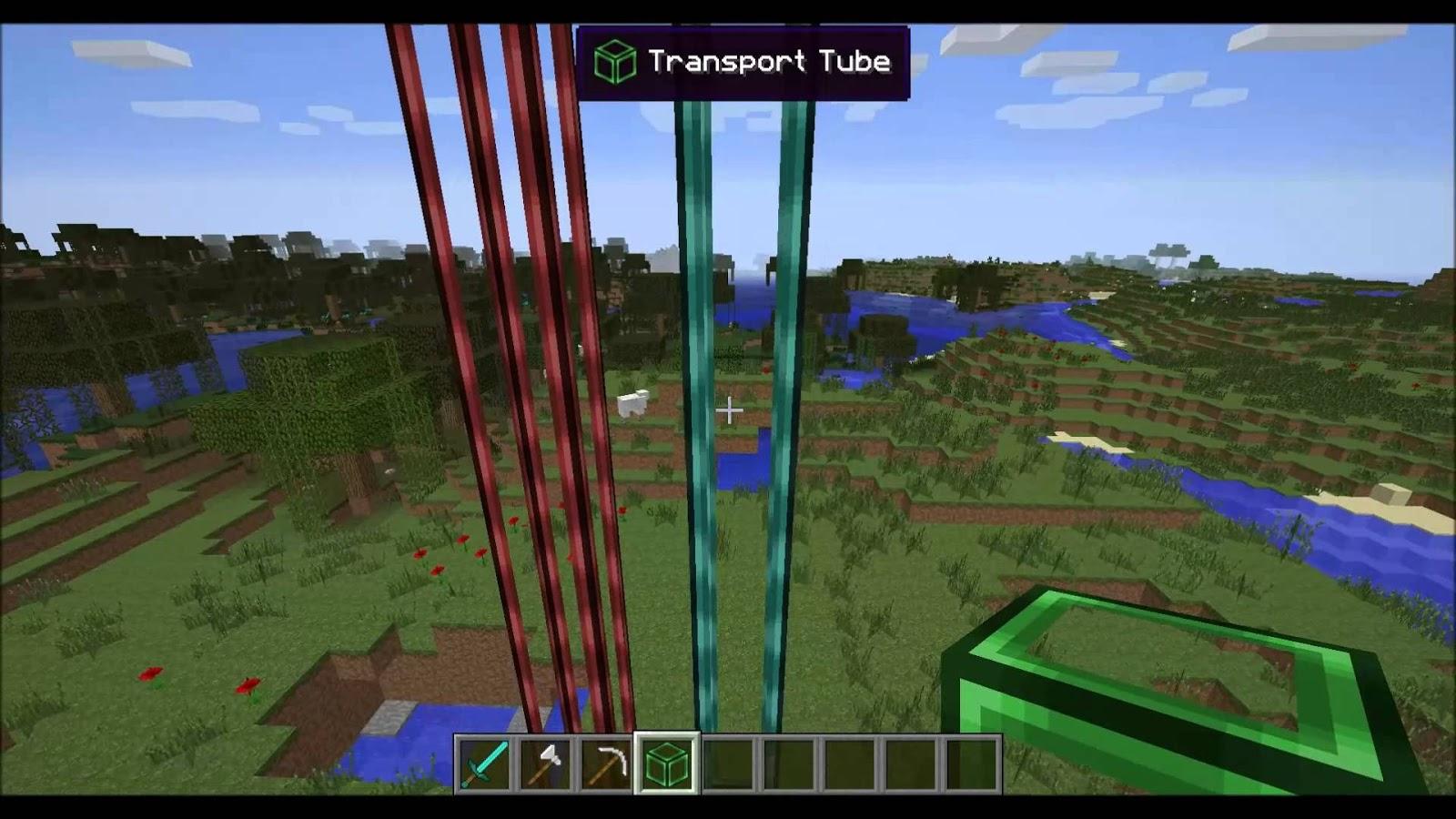 Tube transport system mod mi mundo minecraft
