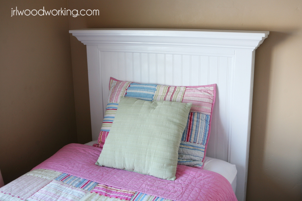 Furniture Plans Beadboard Headboard For A Twin Size Bed