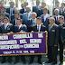 PRIMERA CUADRILLA DE CARGADORES DEL SEÑOR CRUCIFICADO Y ASOCIACIÓN DE JUBILADOS Y PENSIONISTAS PARTICIPARON EN CEREMONIA DOMINICAL