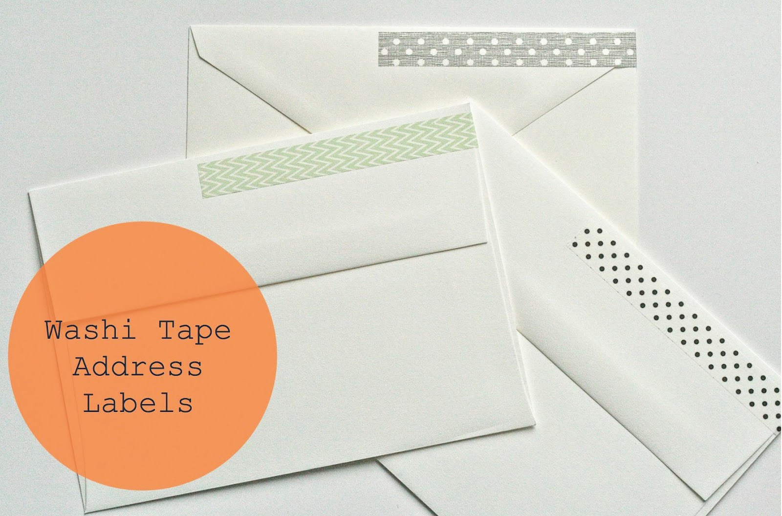 DIY Washi Tape Wrap Address Labels
