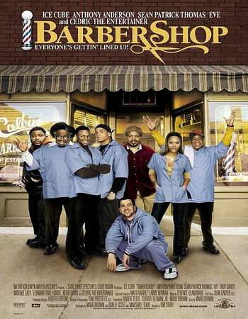 Poster Of Barbershop 2002 English 300MB HDTV 480p Free Download Watch Online Worldfree4u