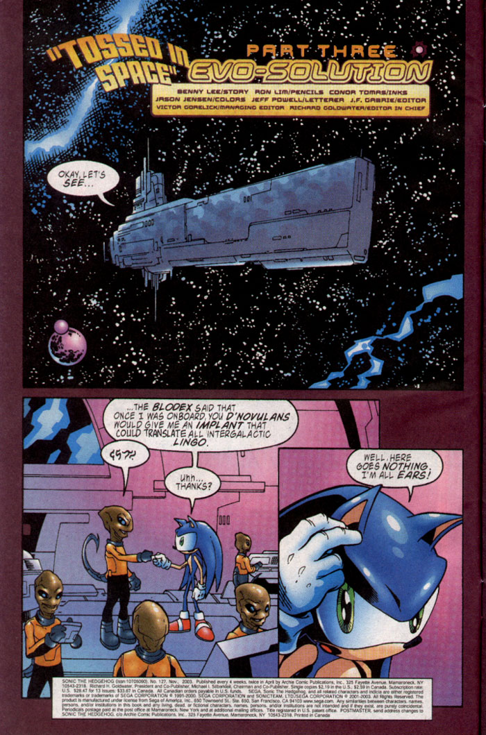 Read online Sonic The Hedgehog comic -  Issue #127 - 3