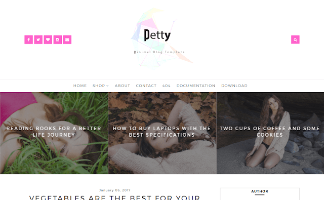 Petty blogger template
