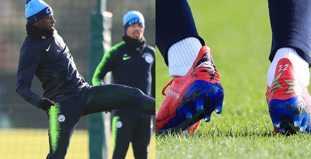 9e9bfdf9b6c3 ... raised our attention as he laced up in custom Adidas X 18 football  boots in training, returning from a knee injury. Thanks to SoccerBible for  the spot.