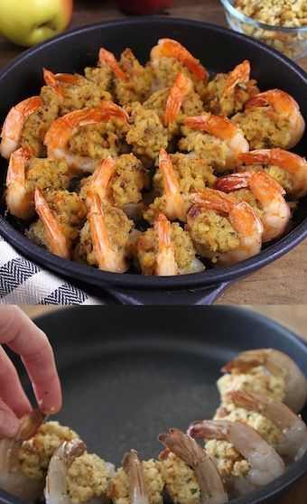 Stuffed Baked Jumbo Shrimp