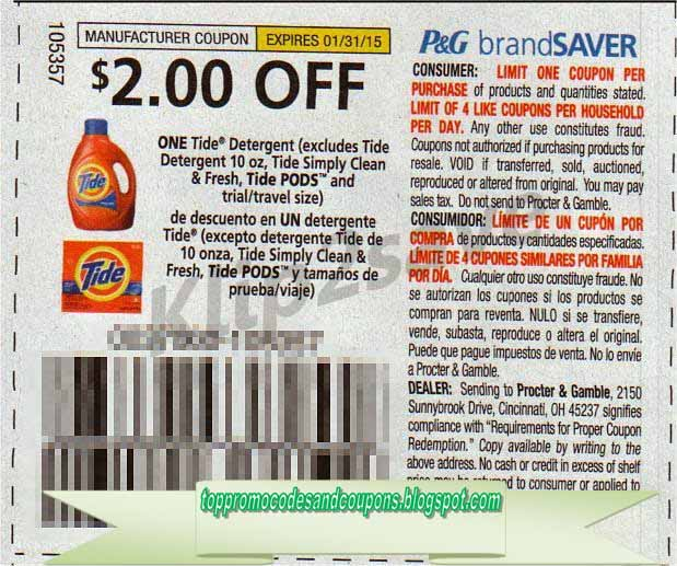 Free Promo Codes And Coupons 2020 Tide Coupons