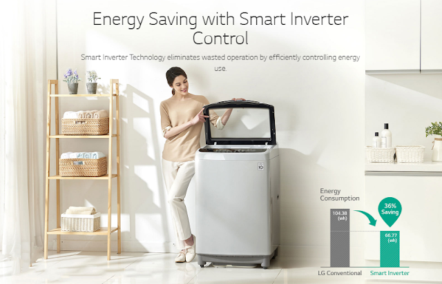 LG-smart inverter-washing machine-15 kg-sapience-top loader-review-south africa