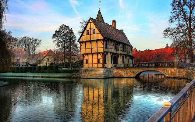 Casas populares na Alemanha.