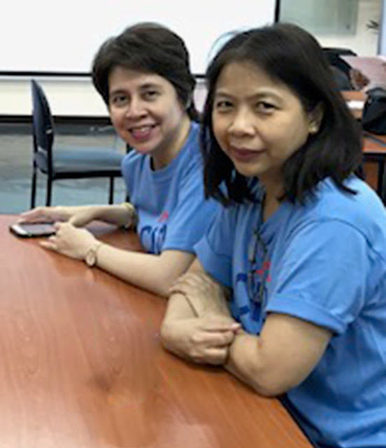 Citi country legal head Pia Lacson (left) and Atty. Riza Del Rosario at Bayan Academy