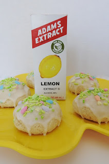 Lemon Cookies with sprinkles