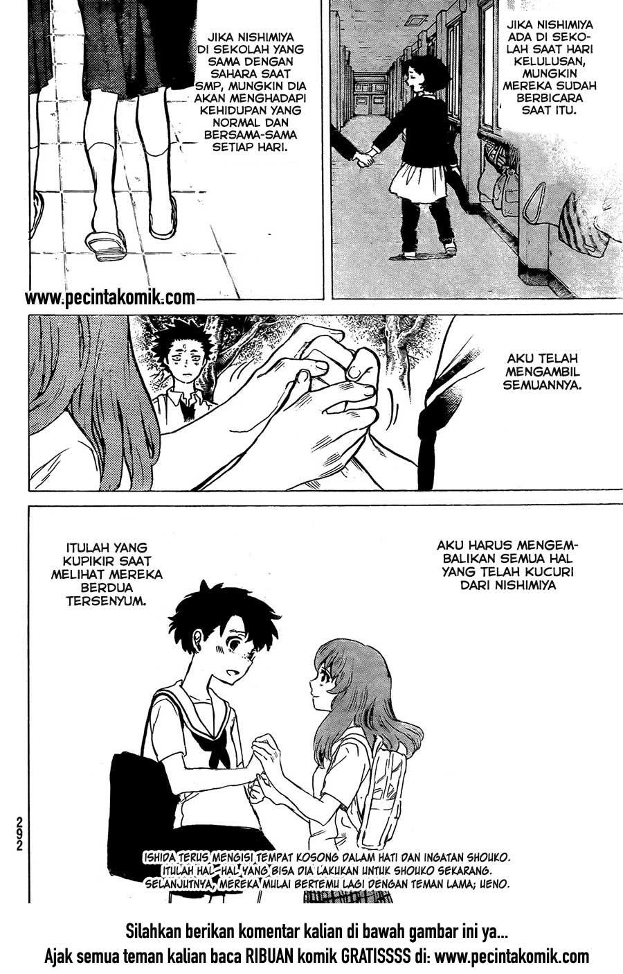 Koe no Katachi Chapter 16-21