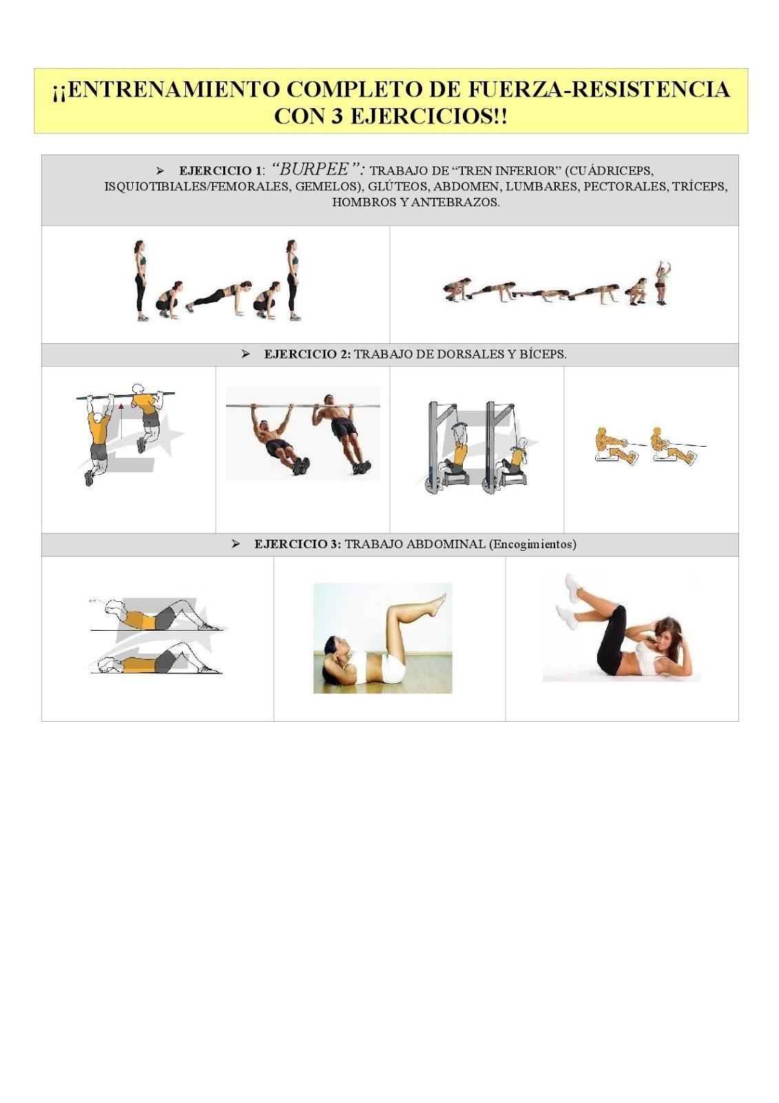 fuerza a la resistencia ejercicios