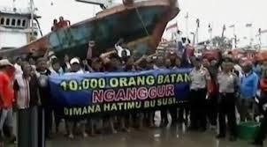 Hampir seribuan nelayan kapal skema di Sumatera Barat hari ini  Kabar Terbaru- RIBUAN NELAYAN PADANG TURUN KE JALAN