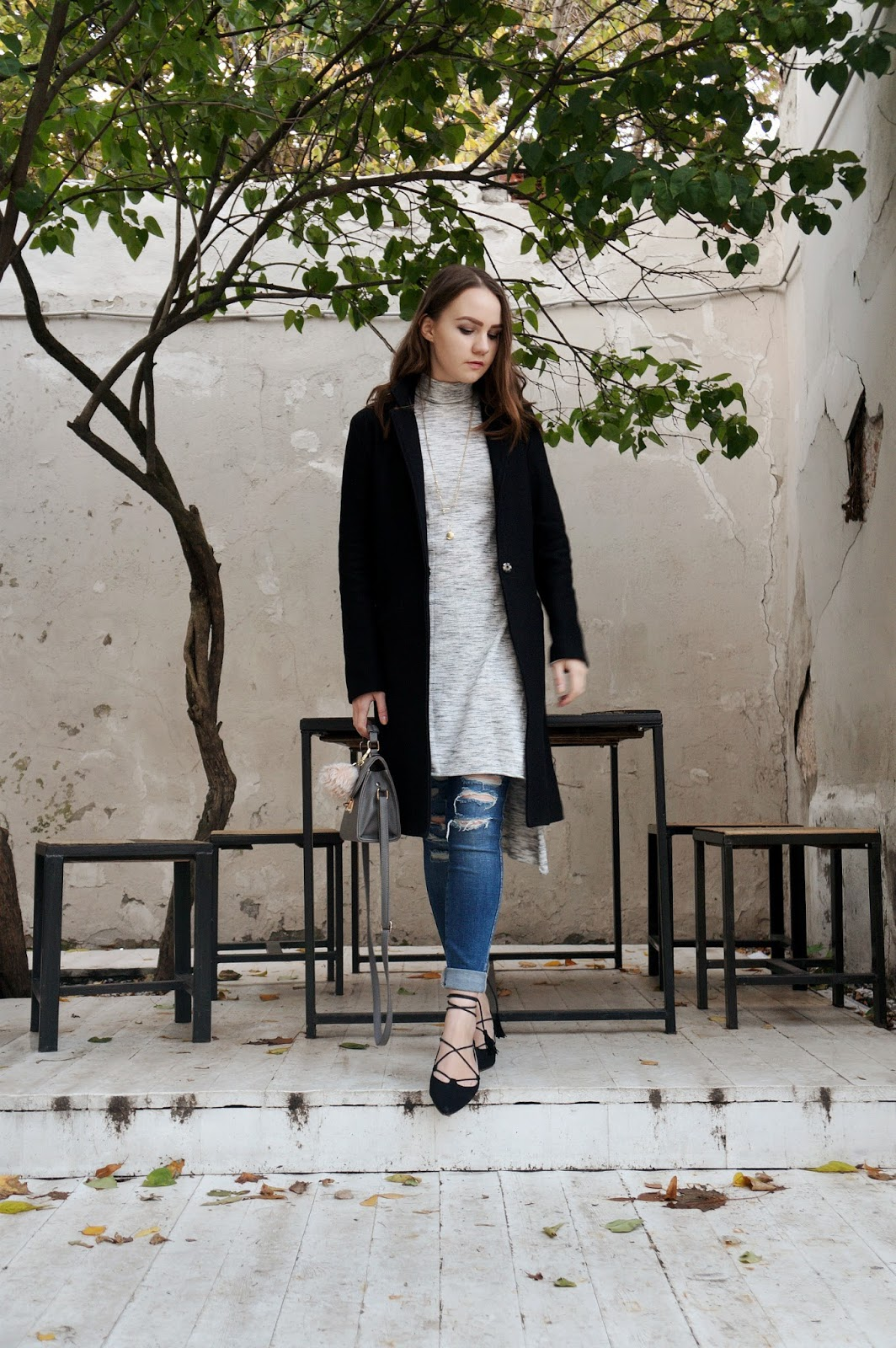 Street Style | Lace Up Flats