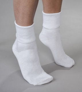 White Buster Brown Diabetes Socks from Wearever Incontinence
