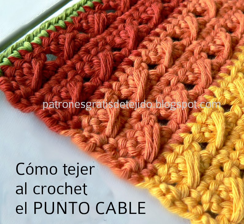 Cómo tejer al crochet el punto cable con explicación paso a paso ...