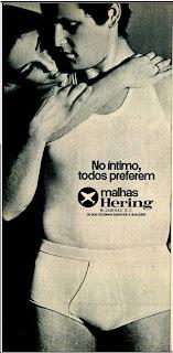 anúncio de malhas Hering de 1970; os anos 70;história da década de 70; Brazil in the 70s;