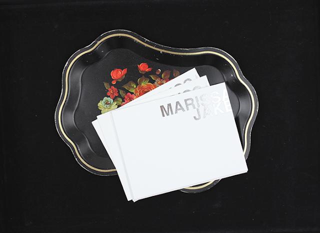 floral plate marissa + jake