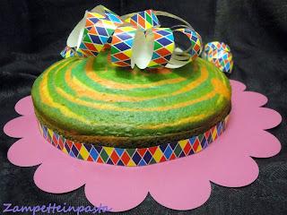 Torta arlecchino - Torta di Carnevale